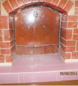 Металлический защитный щит камина