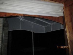Тентовые завесы на террасе двери входные