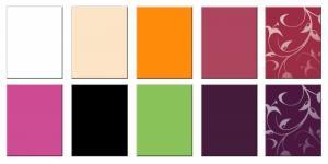 На картинке показаны образцы и цвета панелей МДФ
