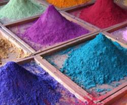 Составляющая полимерного пократия порошок различных цветовых оттенков