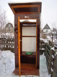 Туалет для дачи. Вид спереди